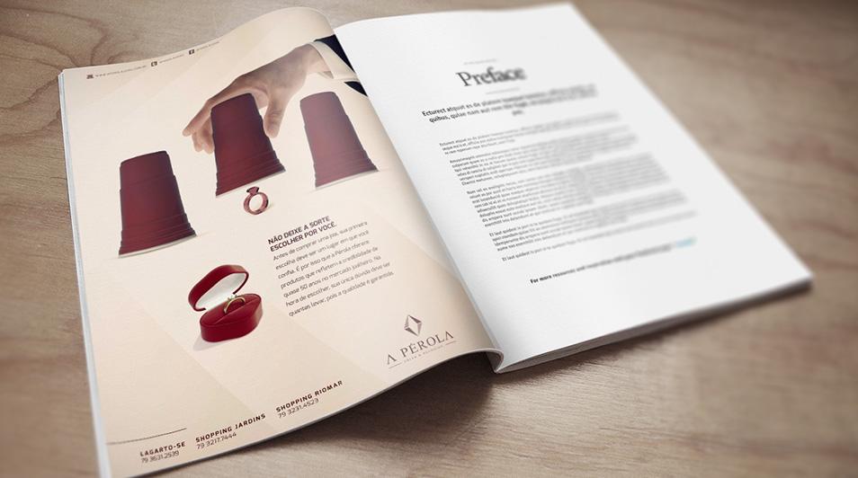 Anúncio Revista – A Pérola Jóias
